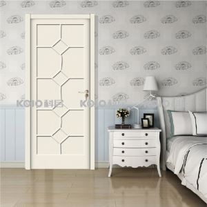 Waterproof Nondeformable Extruded Door Sheet Interior European Style WPC Entrance Door