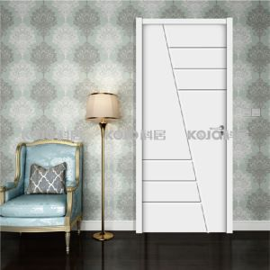 Environmental Protection Waterproof Door Flame-proof Wood Plastic Composite White Yellow Paint Door