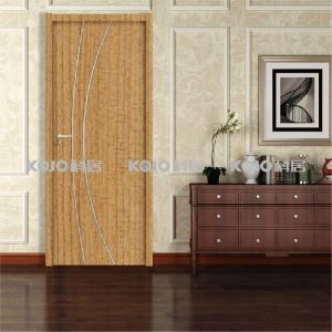 Fashion WPC New Material Waterproof Eco-Friendly Bathroom Bedroom PVC Wrapping Door