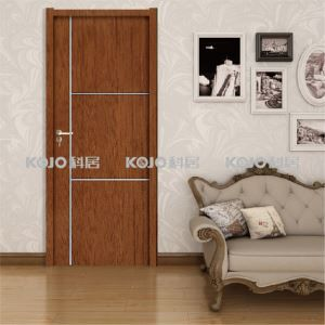 Flameproof Environment Protection Door Wood Plastic Composite WPC Security Entrance Door with SGS Certificates